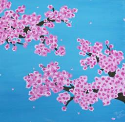 Cherry Blossoms 12x12 by Mistreena