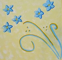 Blue Flowers by Mistreena