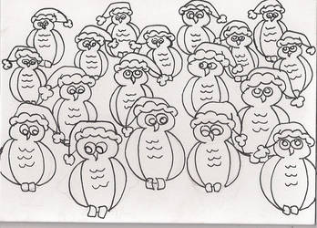 Holy Christmas Owls! by Mistreena