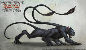 Displacer Beast (Monster) by Conceptopolis