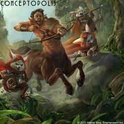 Deepwood Centaur by Conceptopolis