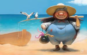 A Good Fishing Day by rskizzen