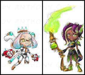 WIP - SciFi Pearl vs. Fantasy Marina by alt-L
