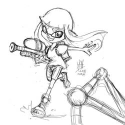 Inkling in Action at up-coming SSBU by alt-L