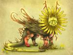Sunflower Dragon by Mistyrdis