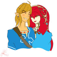 Link and Mipha by MASTER-K0HGA
