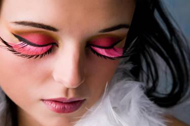 Manda Pink Lashes Soft Skin by photoboy1002001