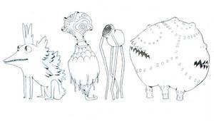 creatures 73 - 76 by lanbridge