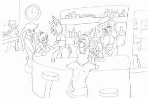 bartender outline (unfinish) by Kinoxic
