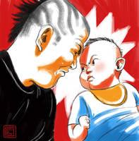 Minoru Suzuki against baby by claudiall