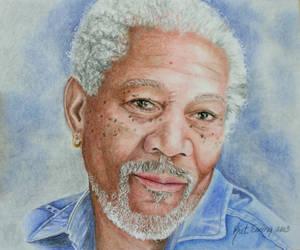 Morgan Freeman by KatLEwing