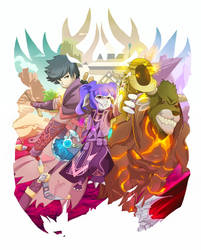Comission: GW2 PoF Players by DestinySwordArt