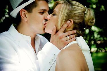 sweet wedding kiss .. by MoniqueDeCaro