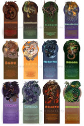 Monsters Bookmarks 12 by Flying-Fox