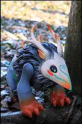 Moon God Toy in da woods by Flying-Fox