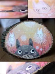 Totoro Dandelions by Flying-Fox