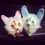 Pair of Kitsune by Flying-Fox