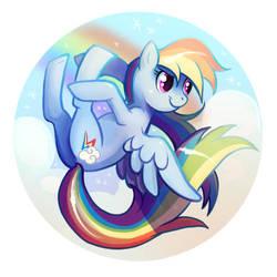 Rainbow Dash Flying by Flying-Fox