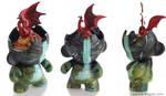 Custom Munny: Dragon Head by Flying-Fox