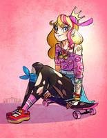 Peach Skater by Flying-Fox