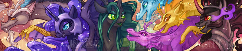 MLP Villains Scarf by Flying-Fox