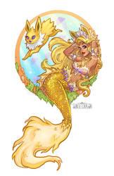 Jolteon Mermaid by Flying-Fox