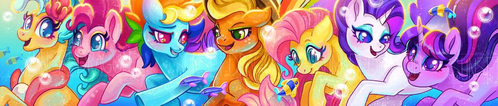 Sea Pony Scarf by Flying-Fox