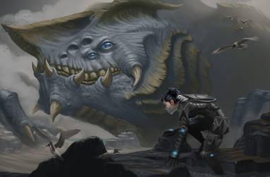 Kaiju and Clio by DennisDarmody