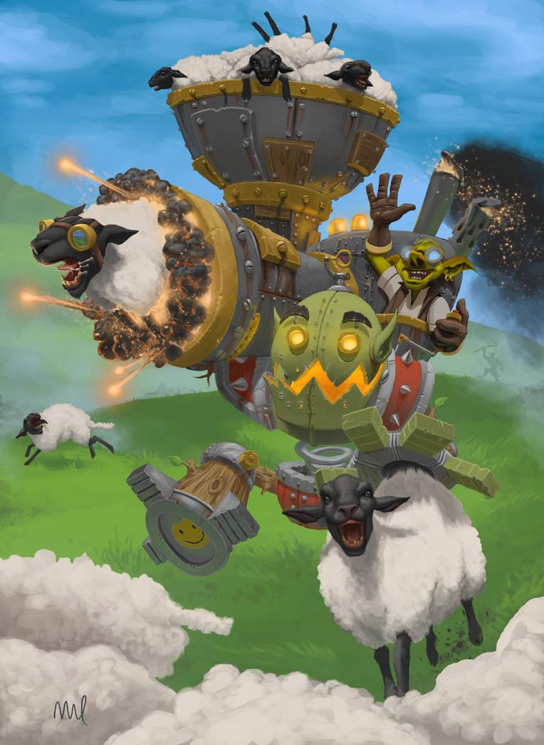 Piloted Sheep Launcher by DennisDarmody