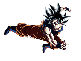 Goku ultra instinto 1era forma (color) by dantArte