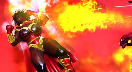 CrimaZon Eats Fire! by EdgarSlam