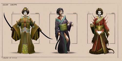 Geisha - character design by Telmand