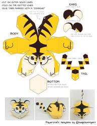 Beta Tiger Pokemon Papercraft Template by MagicBunnyArt