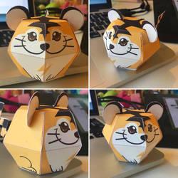 Beta Tiger Pokemon Papercraft by MagicBunnyArt