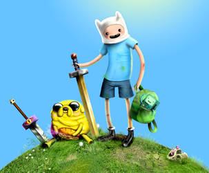 Adventure Time Group Fan Art WIP by FLUMPCOMIX