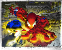 spiderman coloring exercise 2 by johnercek