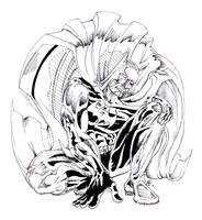 batman crouch ink by johnercek