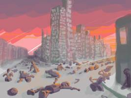 robot apocalypse by johnercek