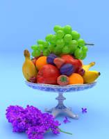 rainbow still life by Chicory-ru