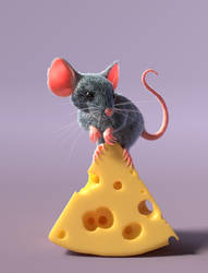 mouse and cheese by Chicory-ru