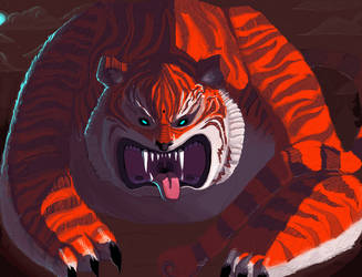 tiger by lenkalamari