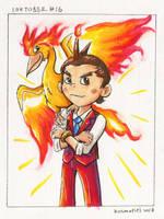 Fire of Justice - Inktober #16 by Kosmotiel