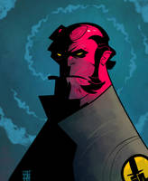 Hellboy by BOTAGAINSTHUMANITY