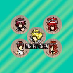 Dir En Grey button set by Tsukiten