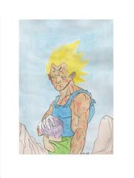 Vegeta Watercolor Sketch by LVCIFERX