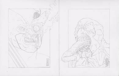 Marvel Head Sketches by LVCIFERX