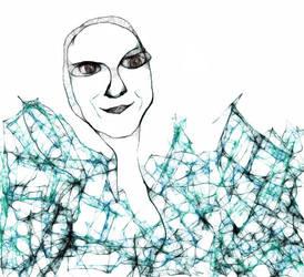 Self Portrait-Digital Scribble by Wendlz