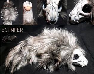 Scamper - Skullanimal Doll by RatShark