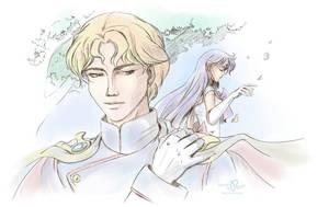 Lord Gedit and Mars (Sailor Moon) by Pillara