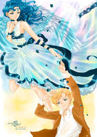 Always gentle Haruka and Michiru by Pillara